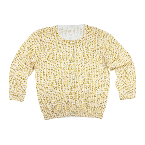 65% off J. Crew Sweaters - JCREW White Yellow Gold Pattern ...
